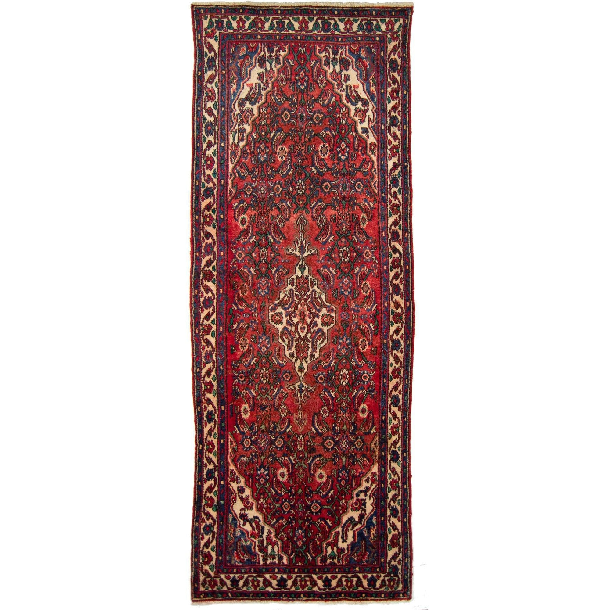 Authentic Tribal Hand-knotted Persian Hamadan Runner 110cm x 297cm Persian-Rug | House-of-Haghi | NewMarket | Auckland | NZ | Handmade Persian Rugs | Hand Knotted Persian Rugs