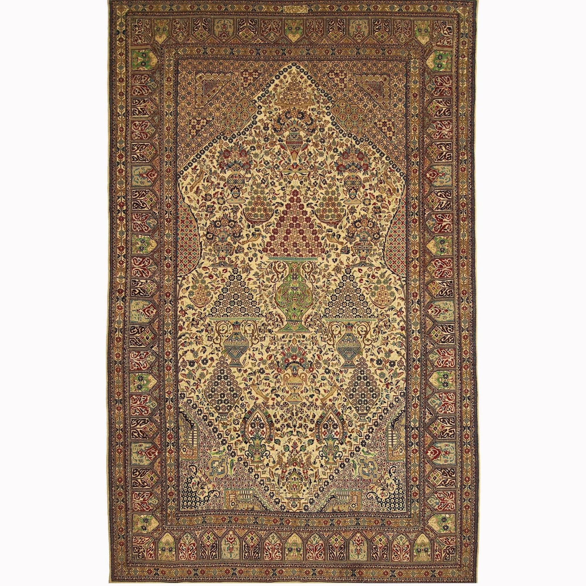 Genuine Fine Hand-knotted Persian Wool and Silk Nain Rug ( SIGNED HABIBIAN ) 158cm x 248cm Persian-Rug | House-of-Haghi | NewMarket | Auckland | NZ | Handmade Persian Rugs | Hand Knotted Persian Rugs