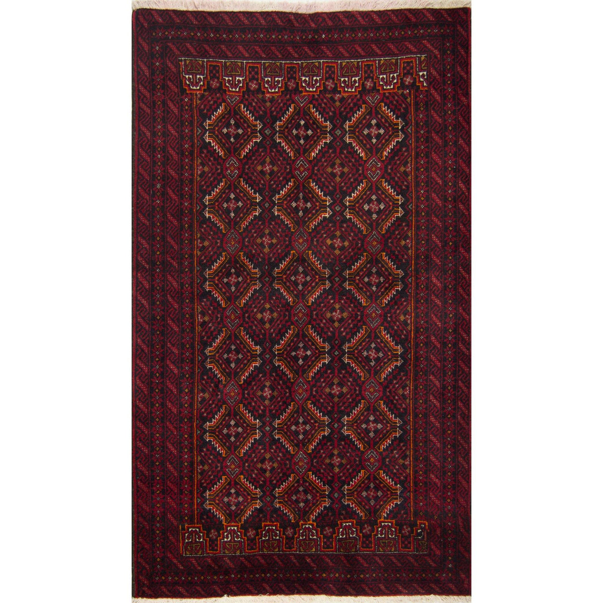 Fine Hand-knotted Persian Wool Baluchi Rug 108cm x 195cm Persian-Rug | House-of-Haghi | NewMarket | Auckland | NZ | Handmade Persian Rugs | Hand Knotted Persian Rugs