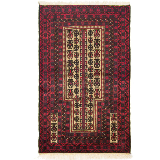 1 x 1.5 Meter_Persian_Fine Hand-knotted Persian Wool Baluchi_handknotted_Runner