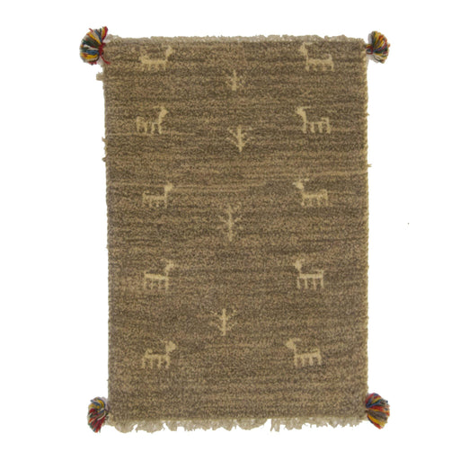 Modern 100% Wool Persian Small Gabbeh Rug 60cm x 90cm - House Of Haghi