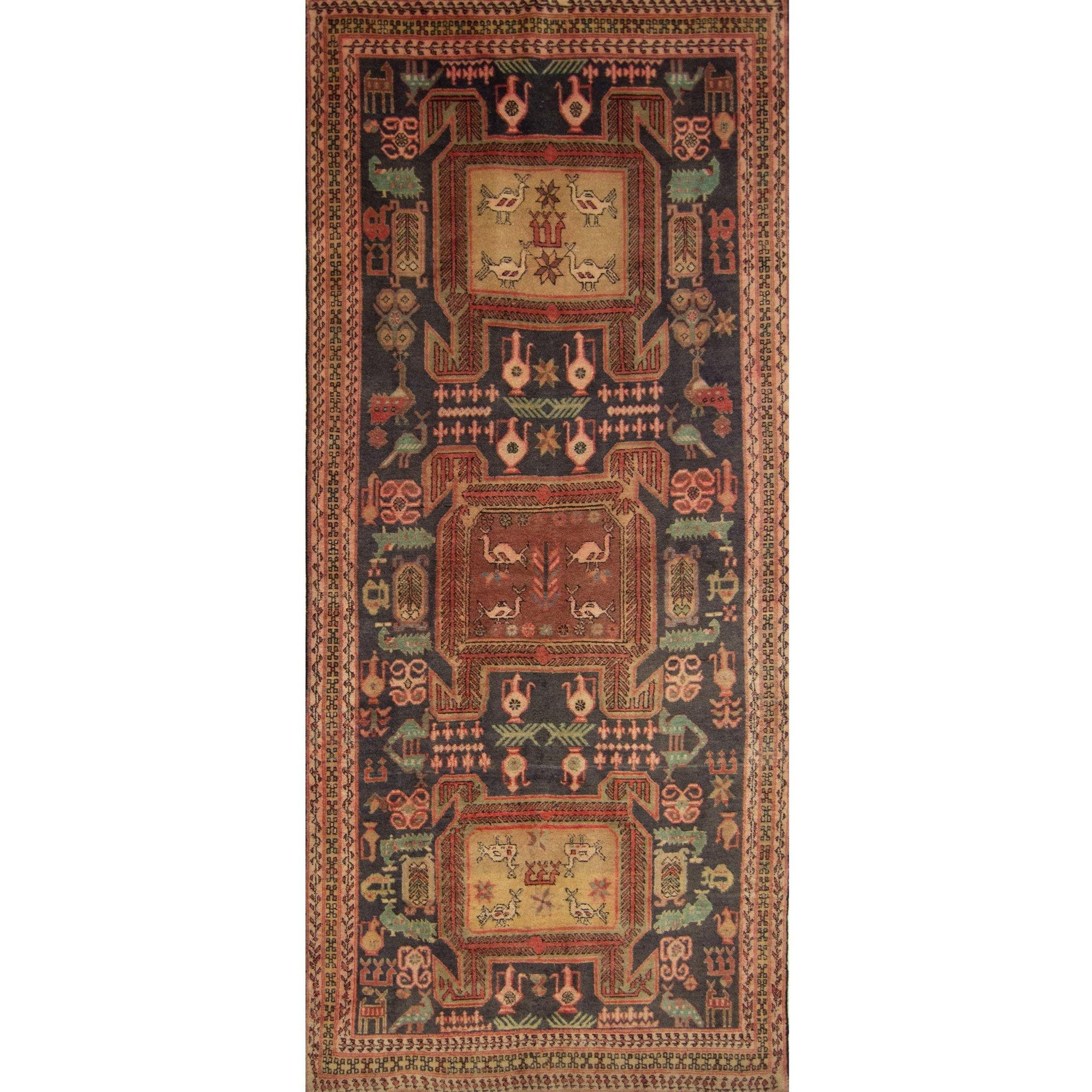 Vintage Fine Persian Hand-knotted Sarab-Azerbaijan Runner 132cm x 309cm Persian-Rug | House-of-Haghi | NewMarket | Auckland | NZ | Handmade Persian Rugs | Hand Knotted Persian Rugs
