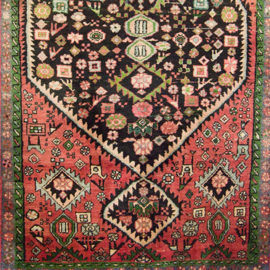 Hand-knotted Wool Persian Hamadan Runner - House Of Haghi