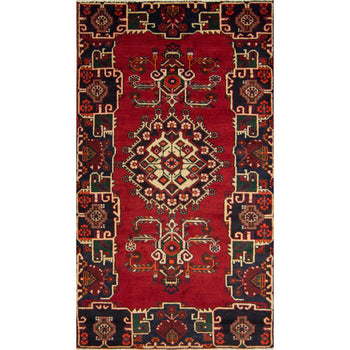 Hand-knotted Wool Persian Hamadan Rug 137cm x 235cm - House Of Haghi