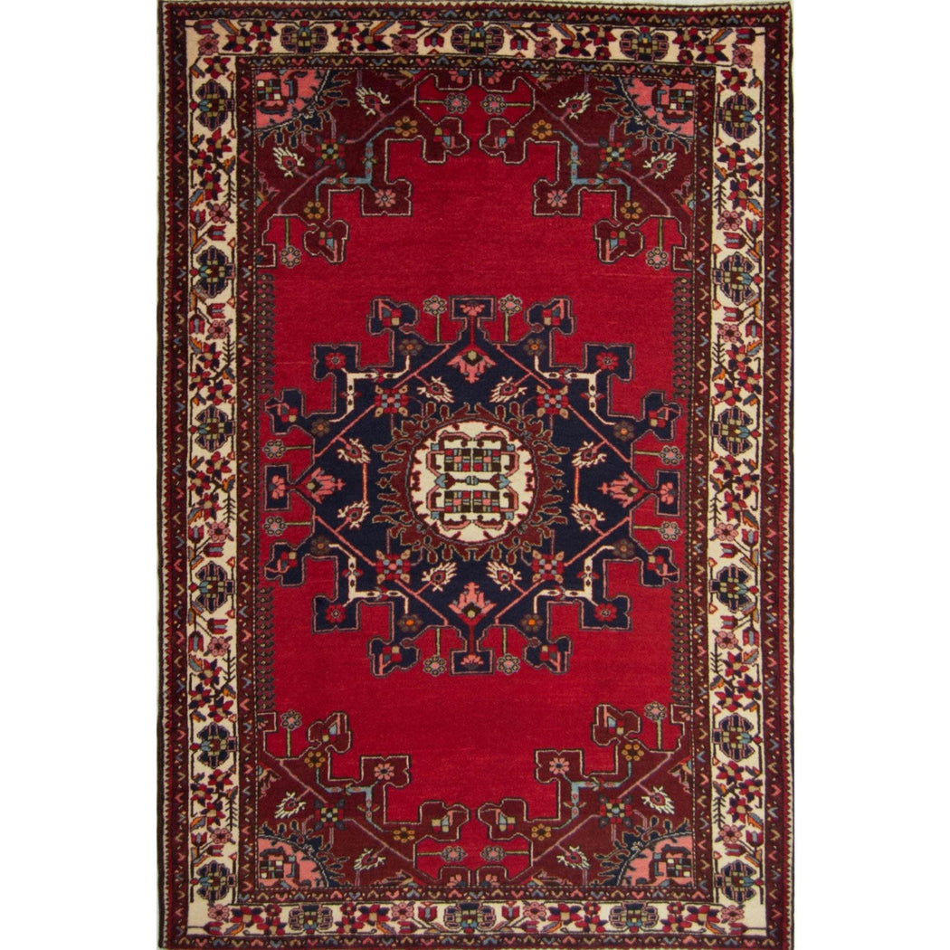 Authentic Hand-knotted Wool Persian Tafresh Rug 140cm x 207cm - House Of Haghi