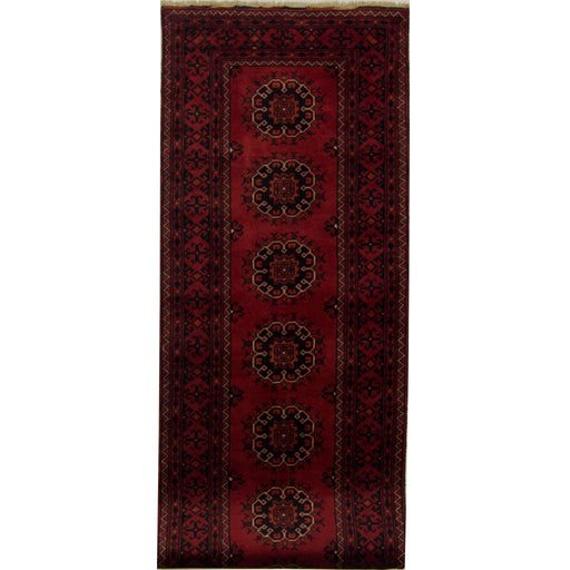 1 x 3 Meter_Persian_Fine Hand-Knotted Afghan Khal Mohammadi Rug_handknotted_Runner