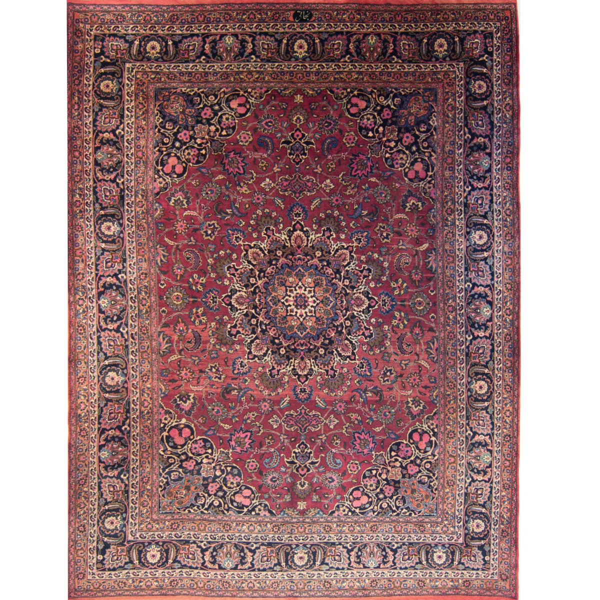 Semi Antique Hand-knotted Wool Persian Kashmar Rug 304cm x 398cm (SIGNED) Persian-Rug | House-of-Haghi | NewMarket | Auckland | NZ | Handmade Persian Rugs | Hand Knotted Persian Rugs