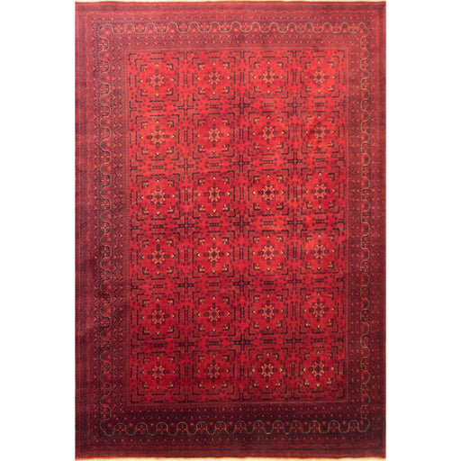 Fine Tribal Afghan 100% Wool Hand-knotted Khal Mohammadi Rug 302cm x 409cm - House Of Haghi