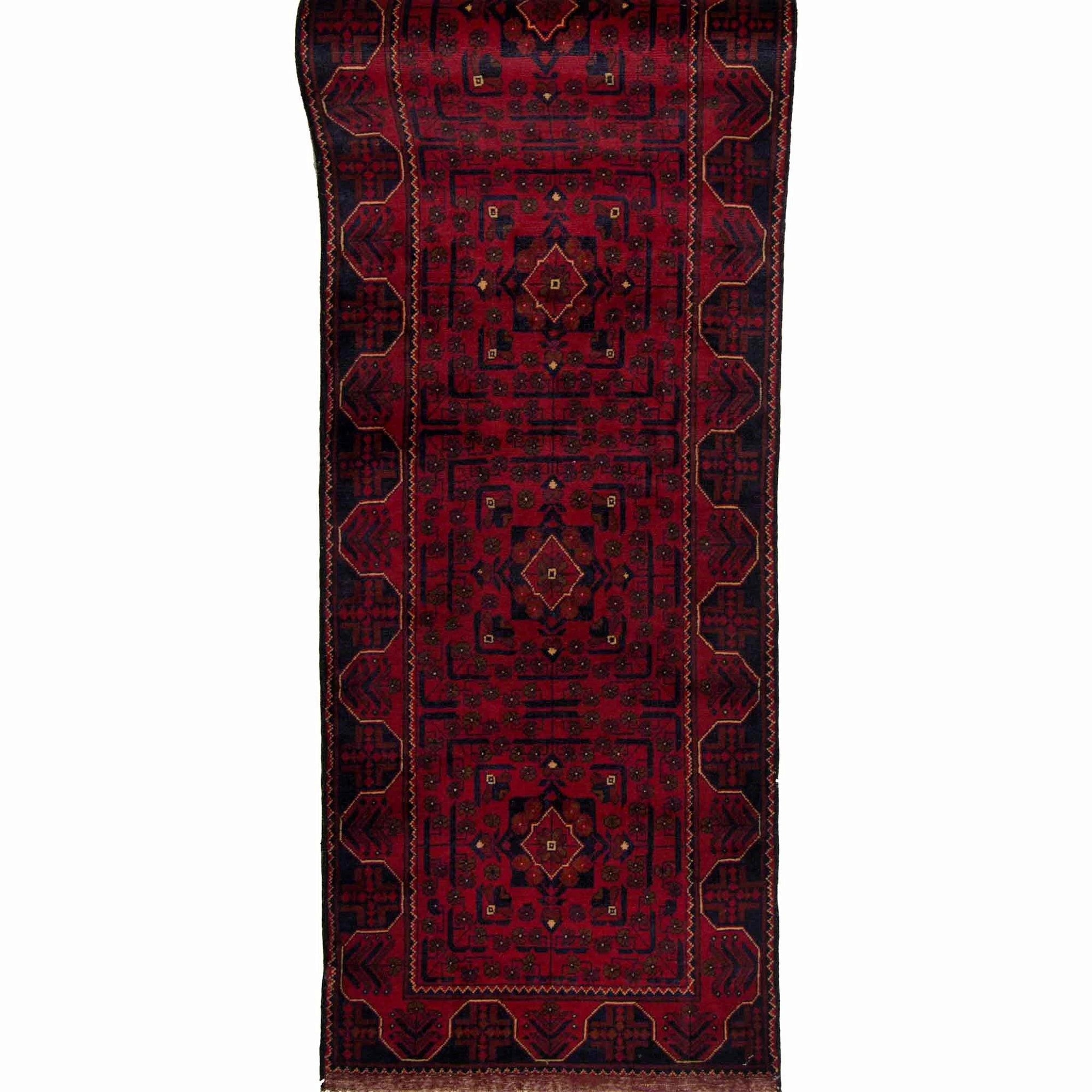 Fine Hand-knotted Wool Afghan Khal Mohammadi Runner 74cm x 578cm Persian-Rug | House-of-Haghi | NewMarket | Auckland | NZ | Handmade Persian Rugs | Hand Knotted Persian Rugs