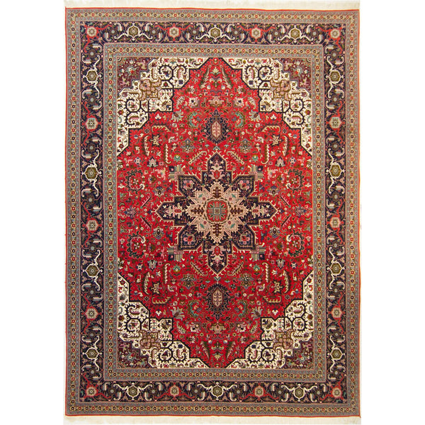 Fine Hand-knotted Wool & Silk Persian Tabriz Rug 307cm x 404cm - House Of Haghi