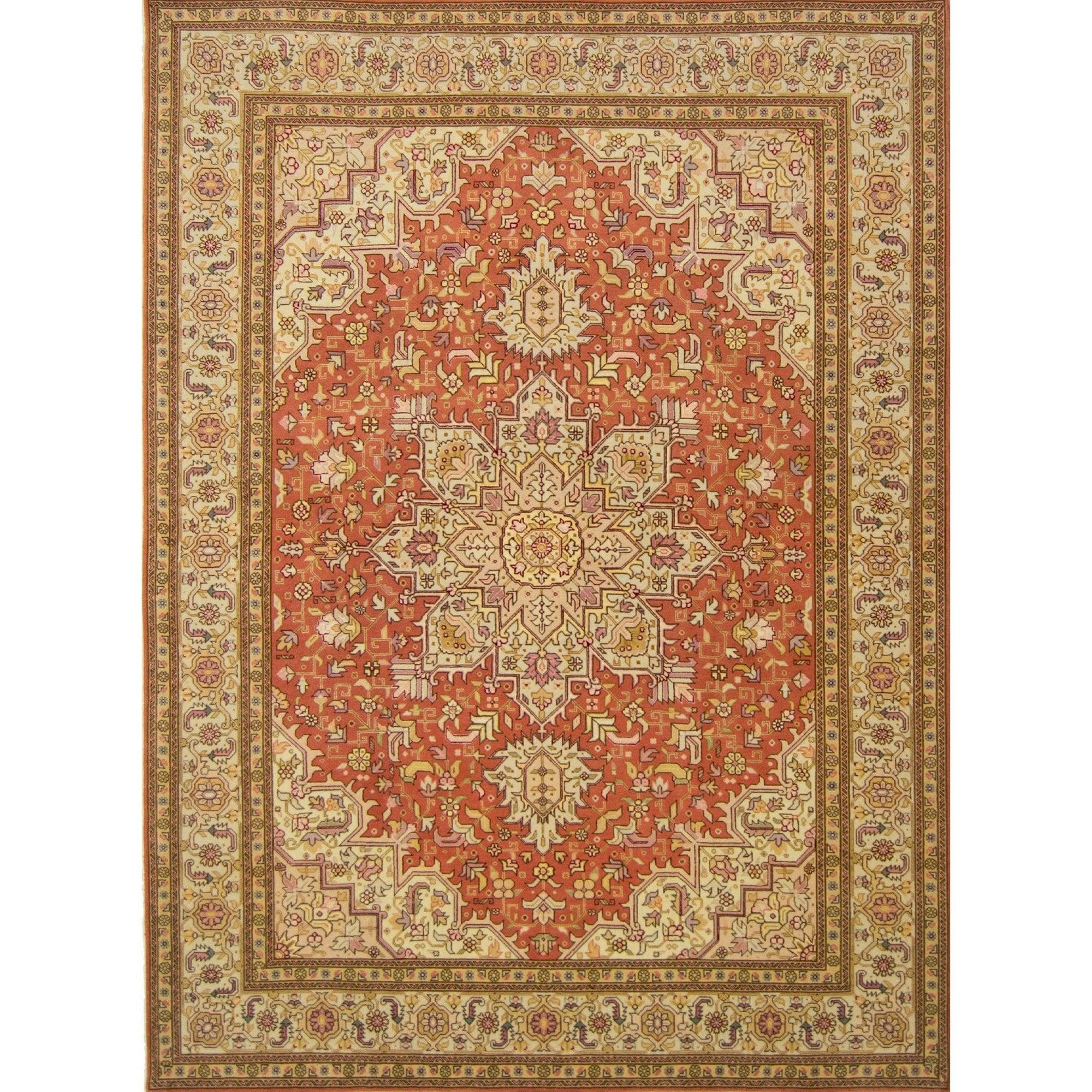 Super Fine  Hand-knotted Wool and Silk Tabriz Persian Rug 150cm x 210cm Persian-Rug | House-of-Haghi | NewMarket | Auckland | NZ | Handmade Persian Rugs | Hand Knotted Persian Rugs