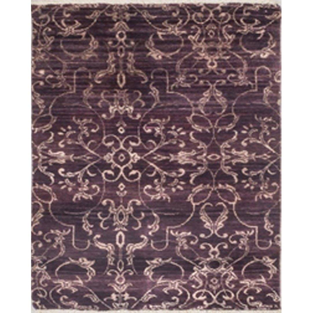 Contemporary Hand-knotted NZ Wool& Bamboo Silk Damask Rug 80cm x 129cm Persian-Rug | House-of-Haghi | NewMarket | Auckland | NZ | Handmade Persian Rugs | Hand Knotted Persian Rugs