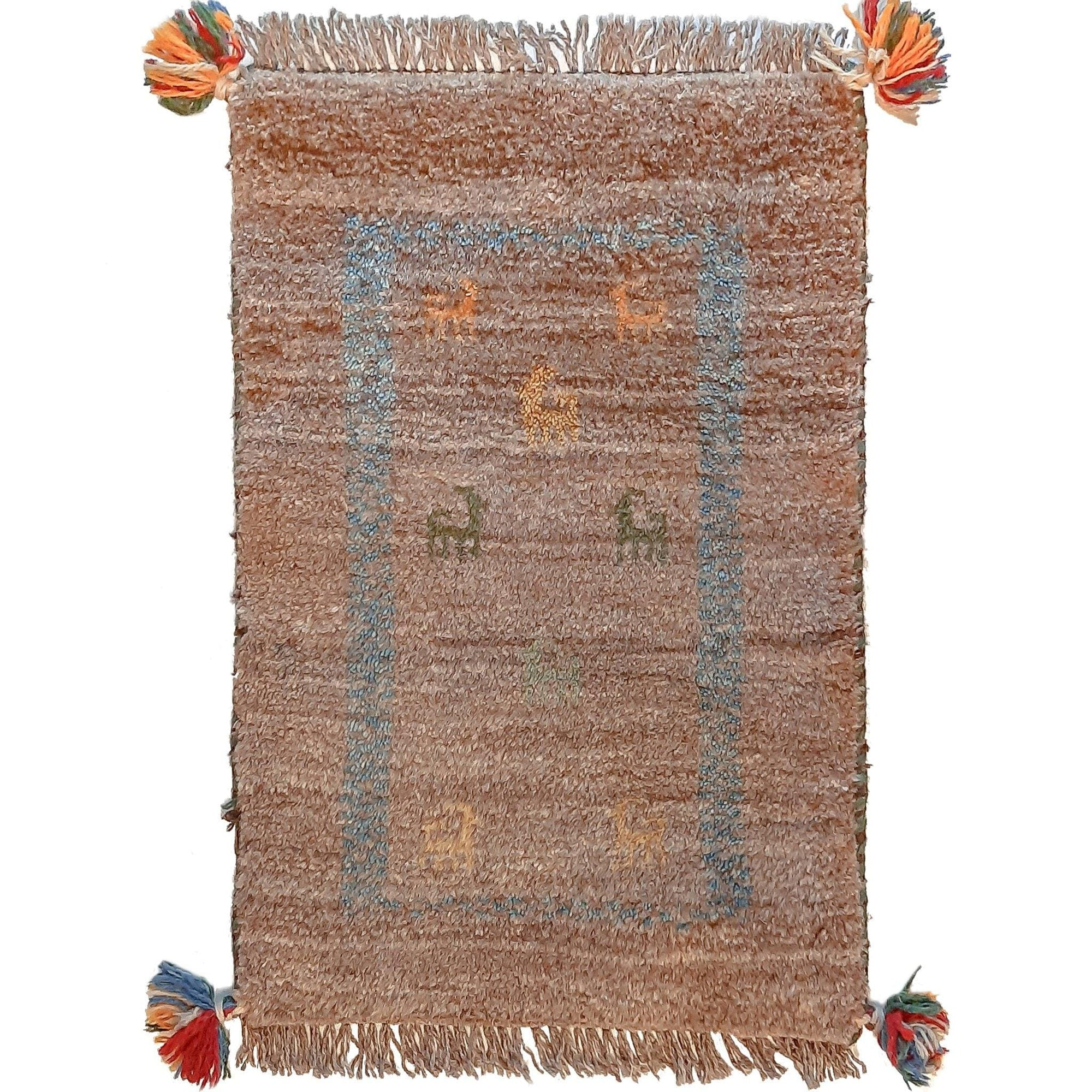 Hand-knotted Persian Gabbeh Extra Small Rug 40cm x 60cm Persian-Rug | House-of-Haghi | NewMarket | Auckland | NZ | Handmade Persian Rugs | Hand Knotted Persian Rugs