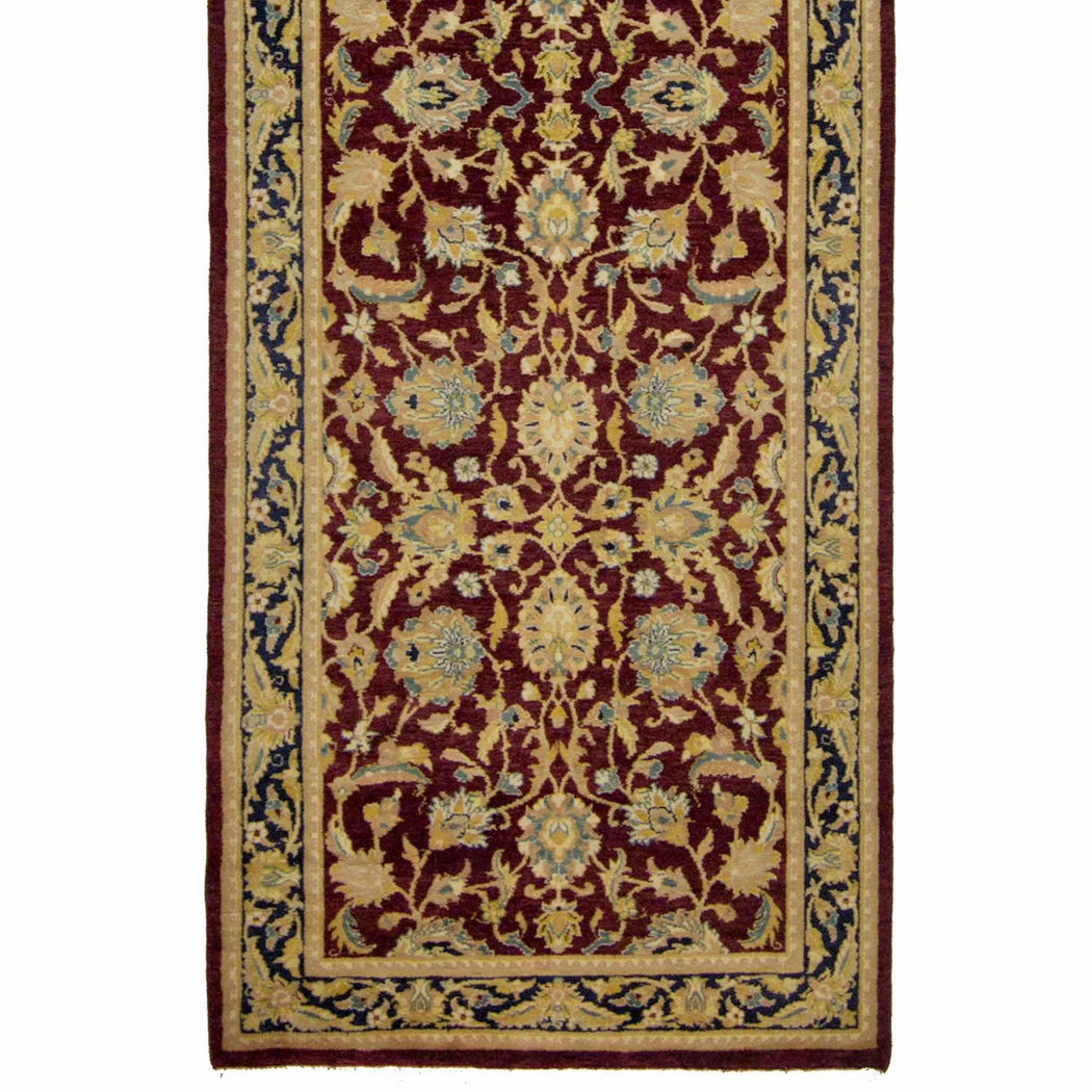 78cm x 365cm Wool Kashan Runner - House Of Haghi