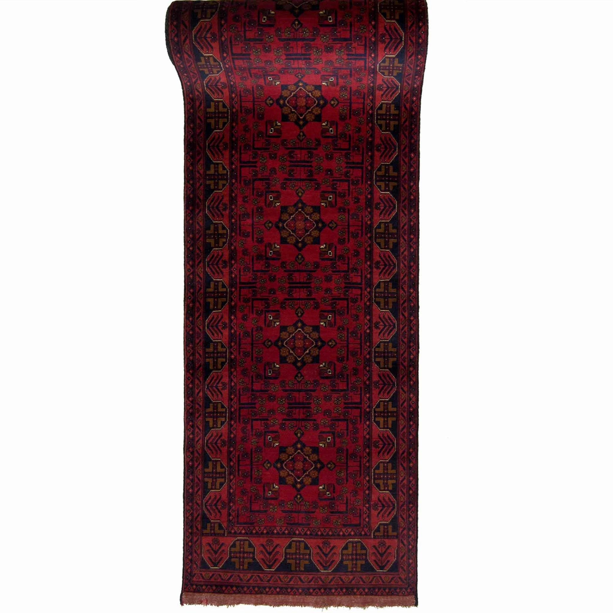 Fine Hand-knotted Afghan Khal Mohammadi Runner 80cm x 974cm Persian-Rug | House-of-Haghi | NewMarket | Auckland | NZ | Handmade Persian Rugs | Hand Knotted Persian Rugs