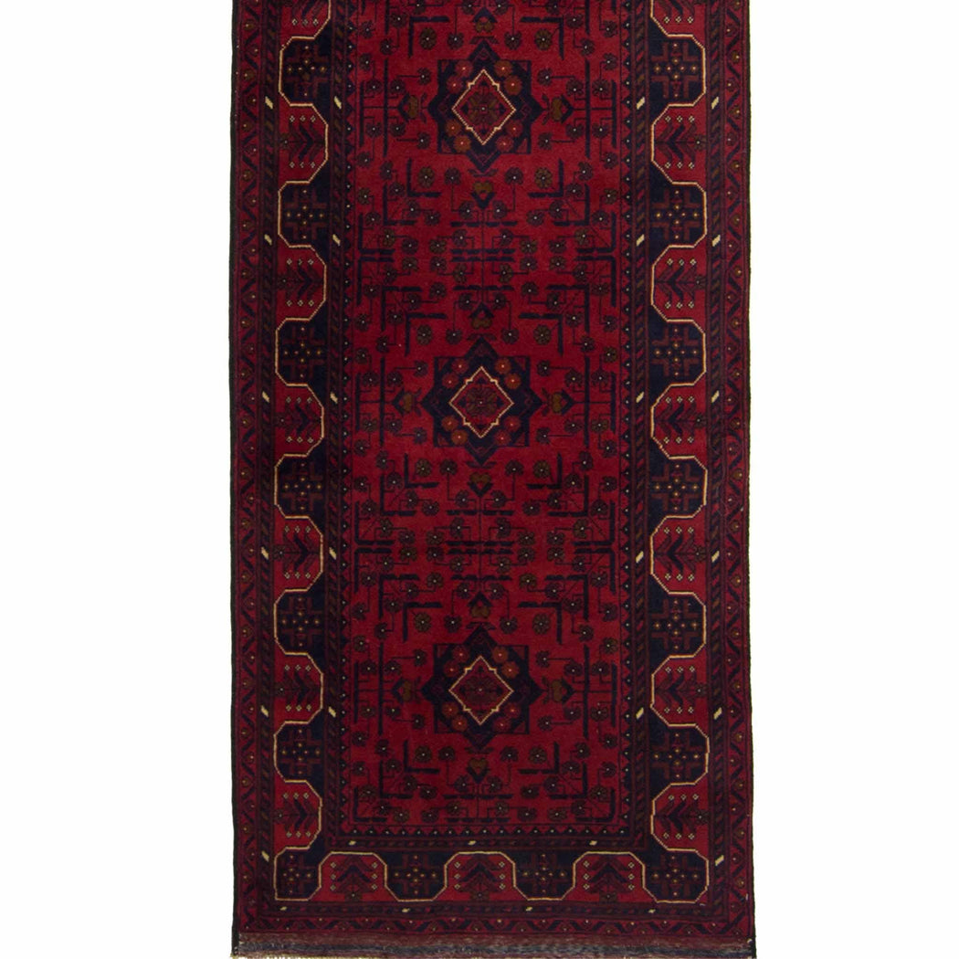 Fine Hand-knotted 100% Wool Khal Mohammadi Runner 79cm x 600cm - House Of Haghi
