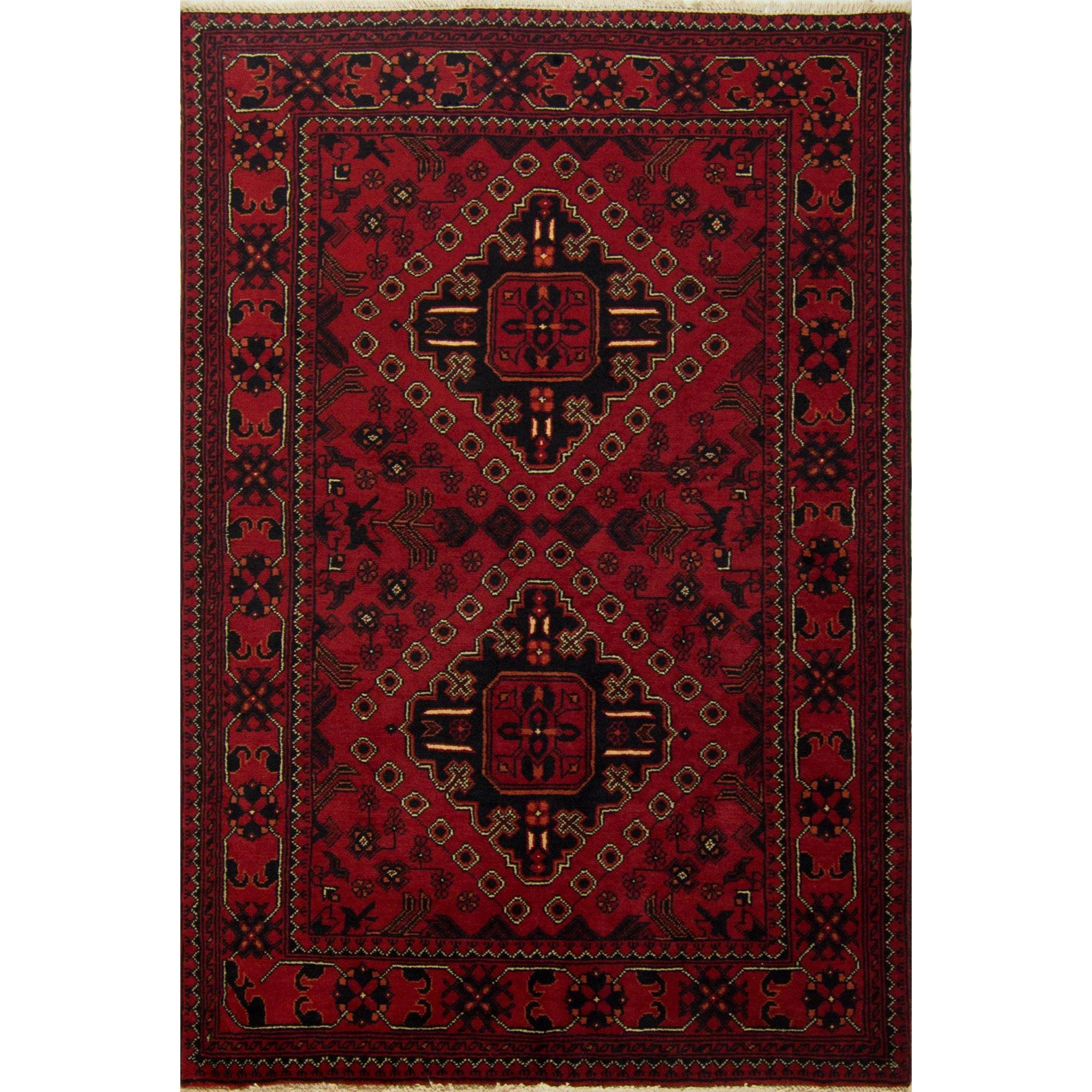 Fine Tribal Hand-knotted Afghan 100% Wool Khal Mohammadi Rug 97cm x 144cm Persian-Rug | House-of-Haghi | NewMarket | Auckland | NZ | Handmade Persian Rugs | Hand Knotted Persian Rugs