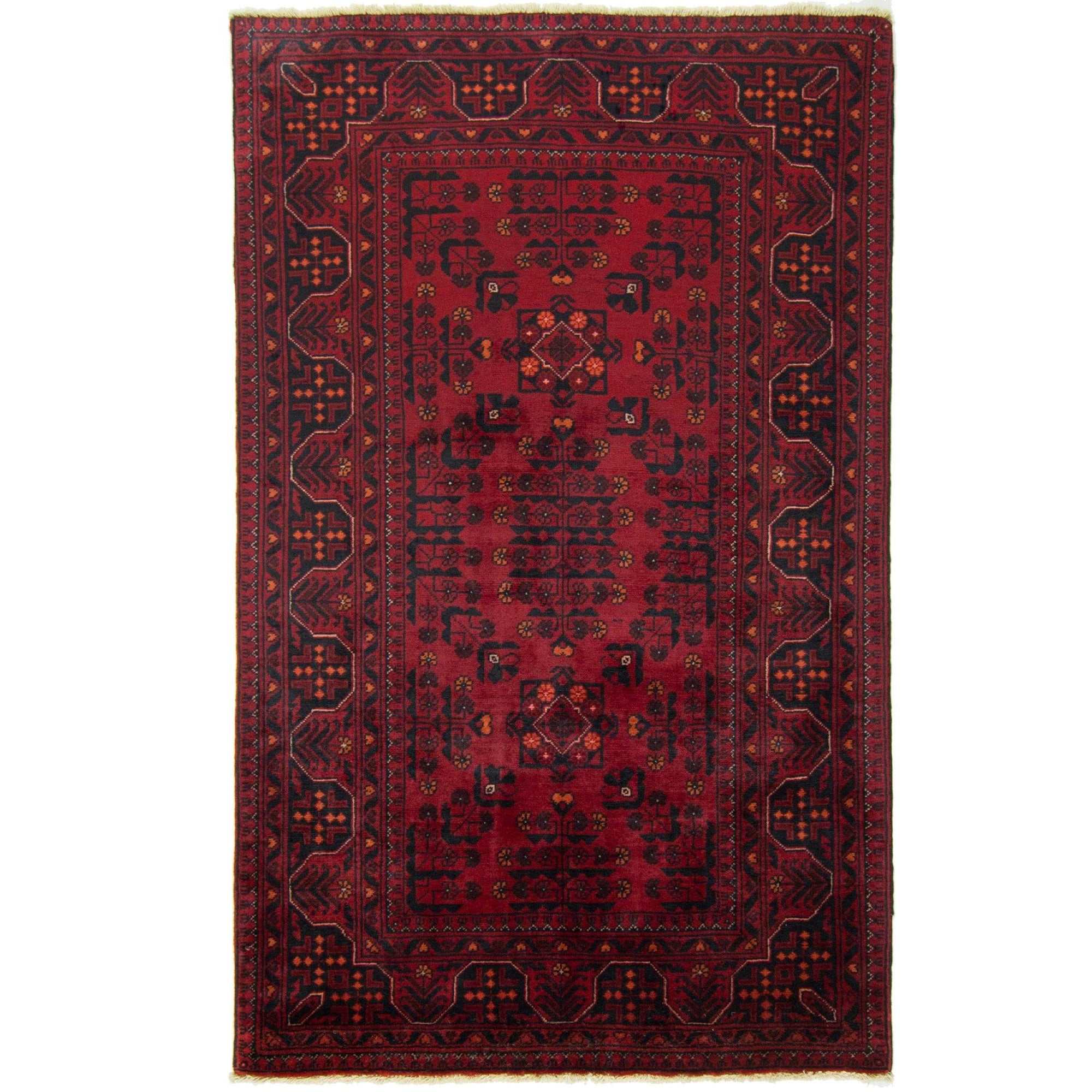 Afghan Tribal Hand-knotted 100% Wool Khal Mohammadi Rug 97cm x 156cm Persian-Rug | House-of-Haghi | NewMarket | Auckland | NZ | Handmade Persian Rugs | Hand Knotted Persian Rugs
