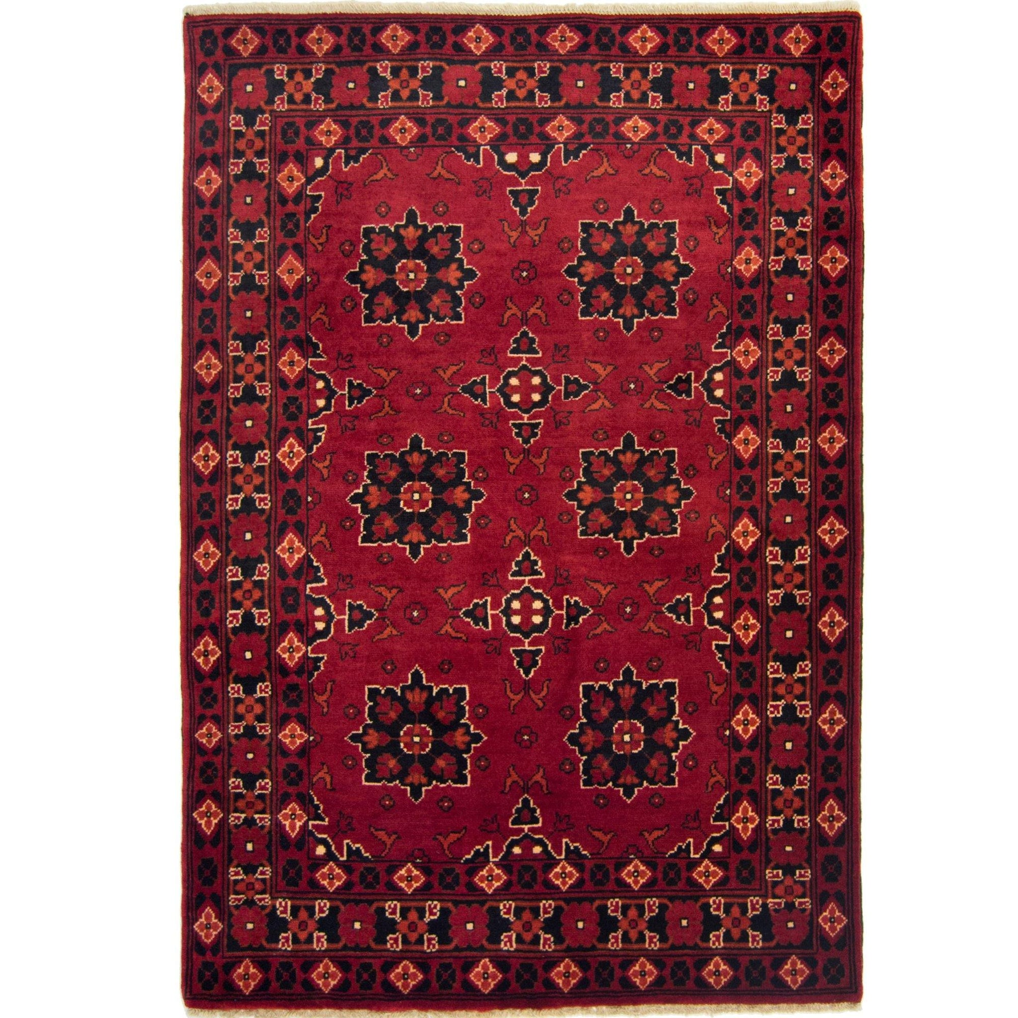 Afghan Hand-knotted Wool Tribal Khal Mohammadi Rug 108cm x 154cm Persian-Rug | House-of-Haghi | NewMarket | Auckland | NZ | Handmade Persian Rugs | Hand Knotted Persian Rugs