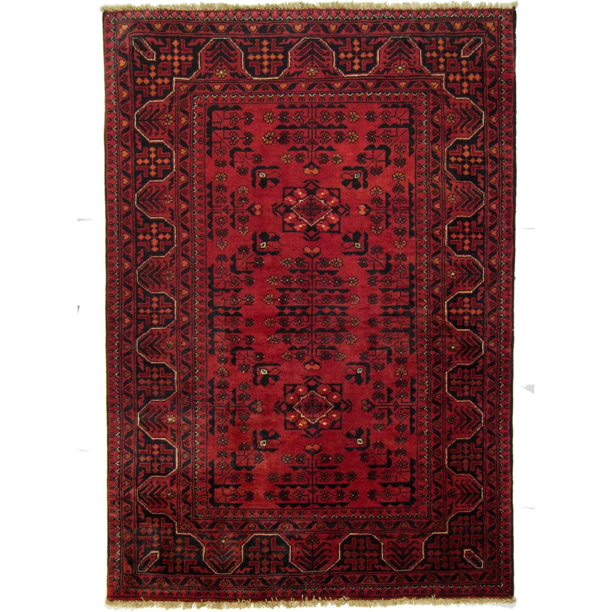 Tribal Afghan 100% Wool Hand-knotted Khal Mohammadi Rug 99 cm x 146 cm Persian-Rug | House-of-Haghi | NewMarket | Auckland | NZ | Handmade Persian Rugs | Hand Knotted Persian Rugs