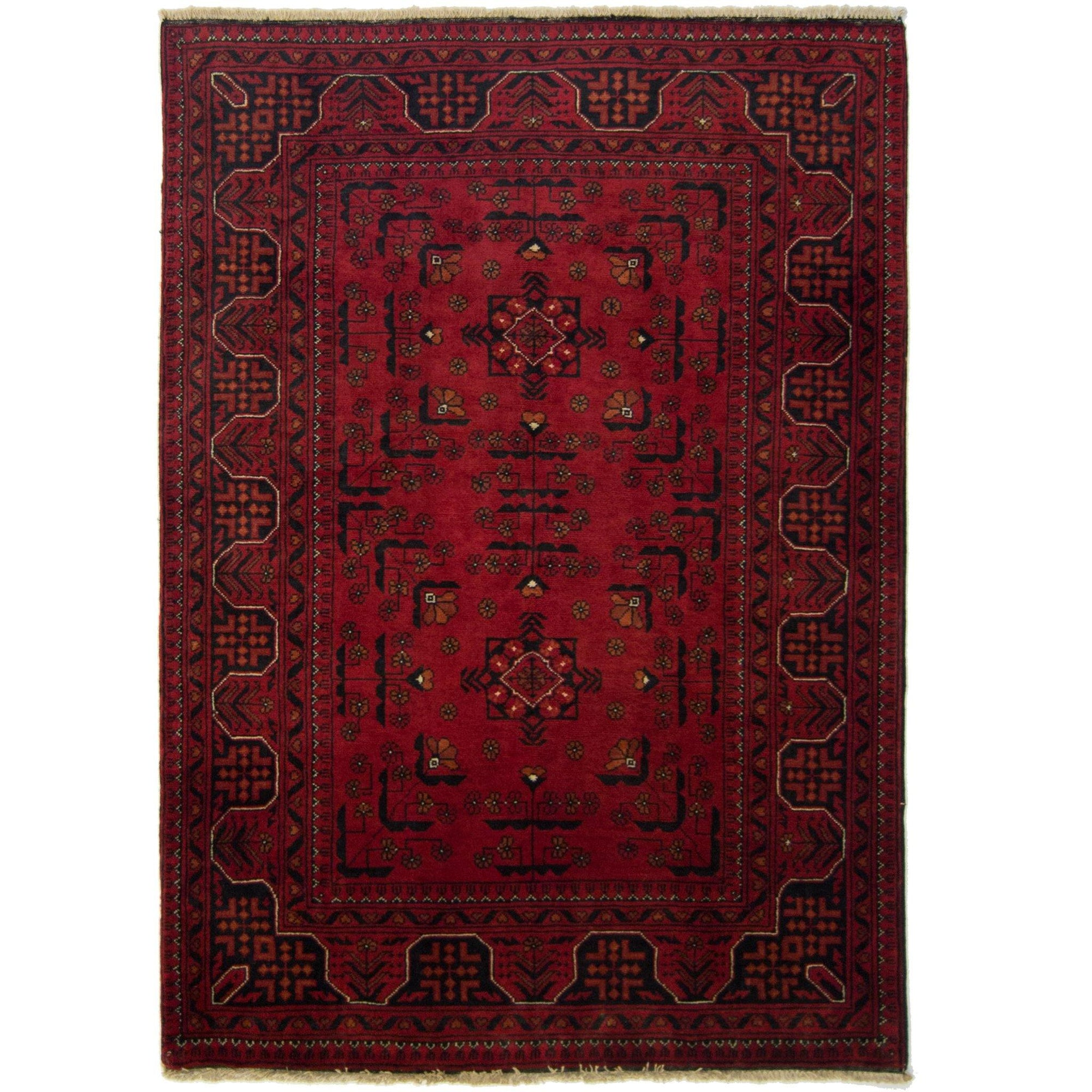 Tribal Afghan 100% Wool Hand-knotted Khal Mohammadi Rug 102 cm x 145 cm Persian-Rug | House-of-Haghi | NewMarket | Auckland | NZ | Handmade Persian Rugs | Hand Knotted Persian Rugs