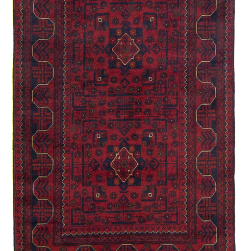 Hand-knotted Tribal 100% Wool Afghan Khal Mohammadi Runner 80cm x 577cm - House Of Haghi