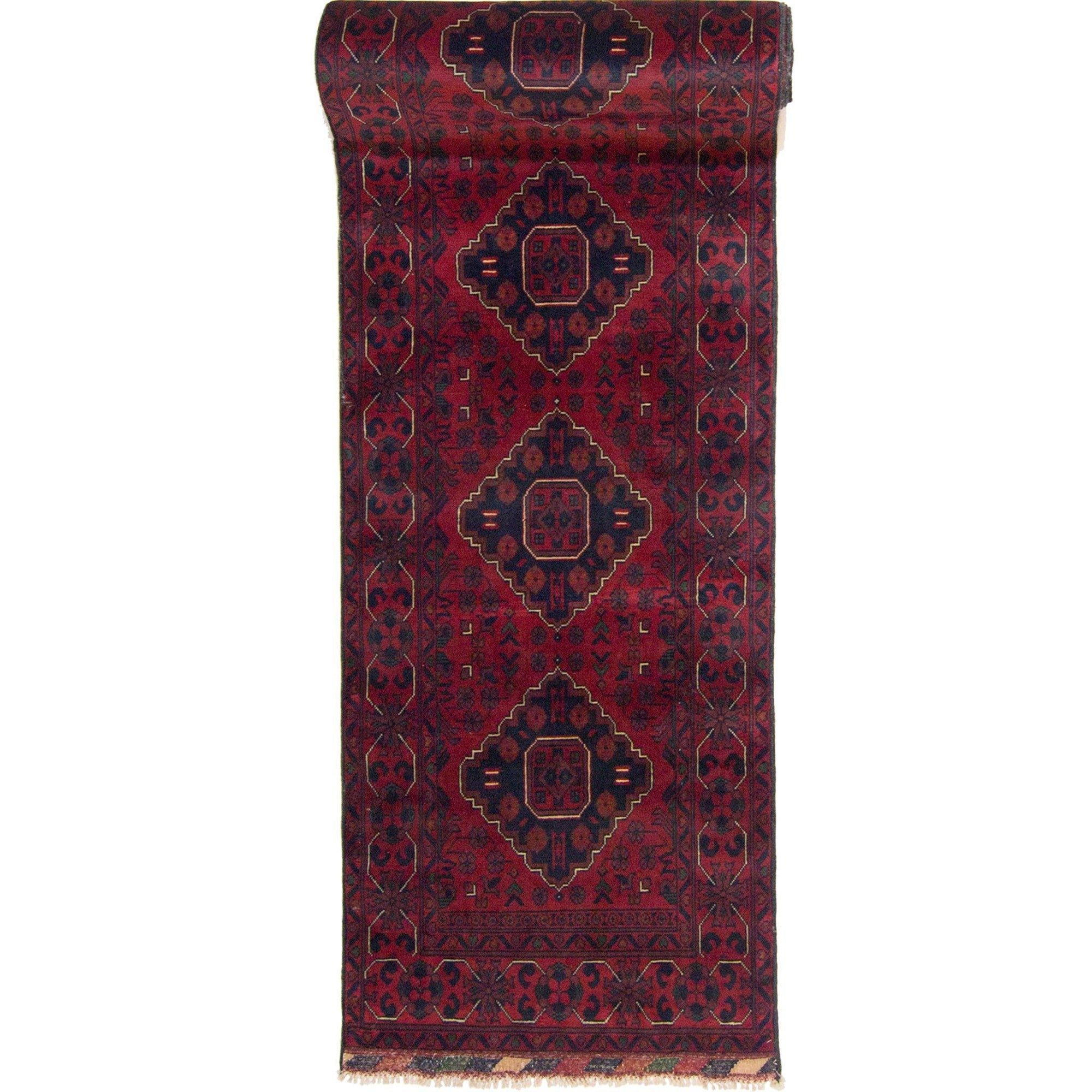 Hand-knotted 100% Wool Afghan Khal Mohammadi Runner 78cm x 573cm Persian-Rug | House-of-Haghi | NewMarket | Auckland | NZ | Handmade Persian Rugs | Hand Knotted Persian Rugs