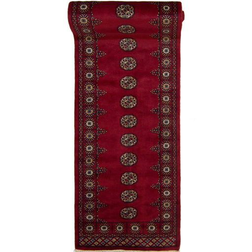 Afghan Tribal Hand-knotted 100% Wool Bokhara Runner 80cm x 537cm - House Of Haghi