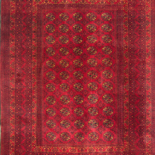 Fine Hand-knotted 100% Wool Afghani Turkmen Rug 205cm x 279cm - House Of Haghi