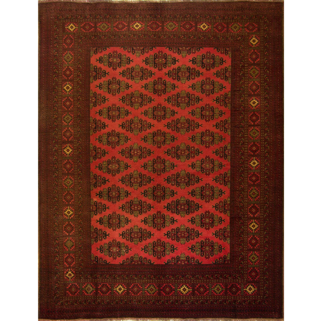 Fine Hand-knotted 100% Wool Afghani Turkmen Rug 200cm x 262cm - House Of Haghi