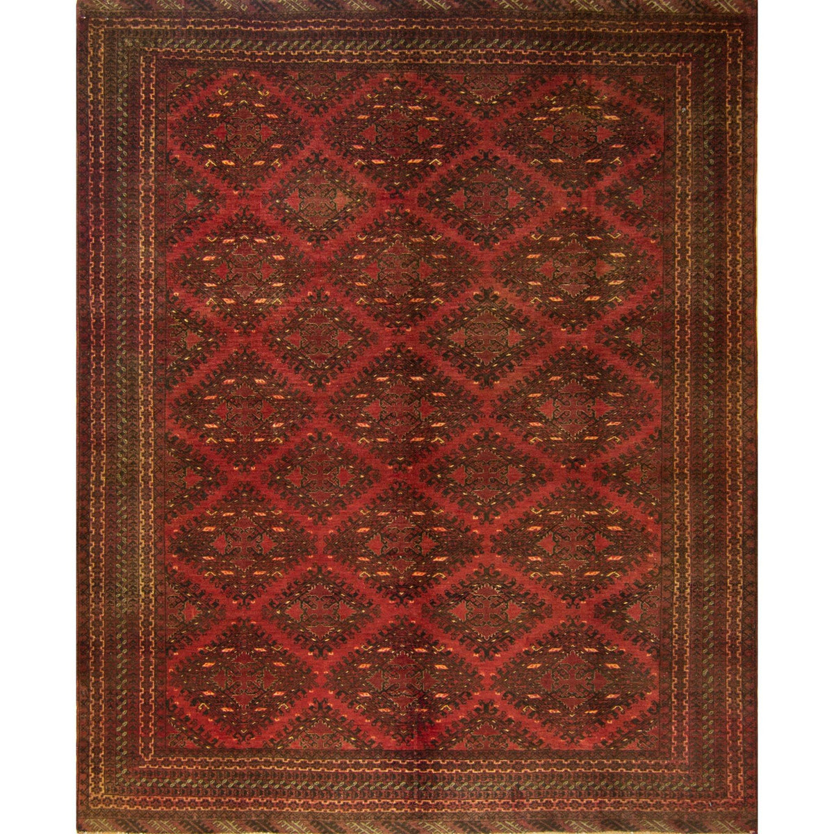 Vintage Hand-knotted 100% Wool Tribal Turkmen Rug 197cm x 242cm Persian-Rug | House-of-Haghi | NewMarket | Auckland | NZ | Handmade Persian Rugs | Hand Knotted Persian Rugs