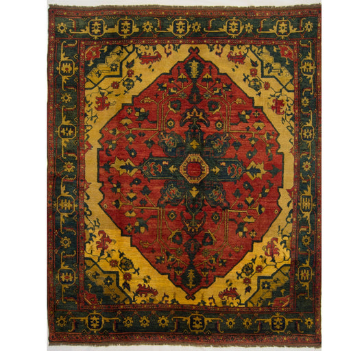 2 x 2.5 Meter_Persian_Fine Hand-knotted Afghan Heriz Rug_handknotted_Rug