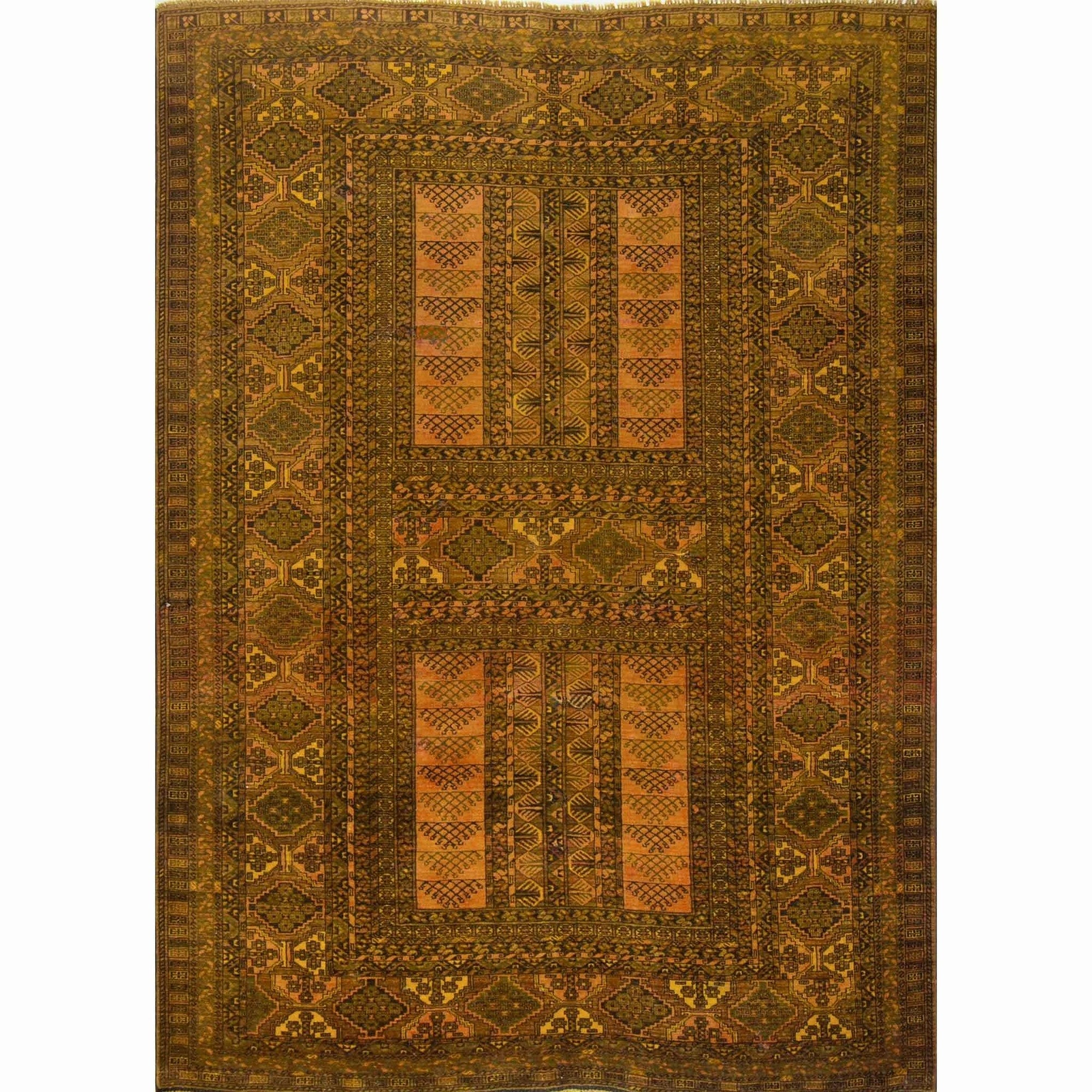Antique Tribal Afghan Hand-knotted 100% Wool Turkmen Rug 164cm x 228cm Persian-Rug | House-of-Haghi | NewMarket | Auckland | NZ | Handmade Persian Rugs | Hand Knotted Persian Rugs