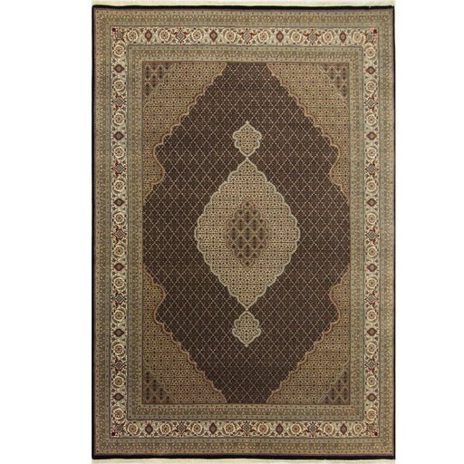 Super Fine Hand-knotted Wool and Silk Tabriz - Mahi Rug 265 cm x 367 cm - House Of Haghi