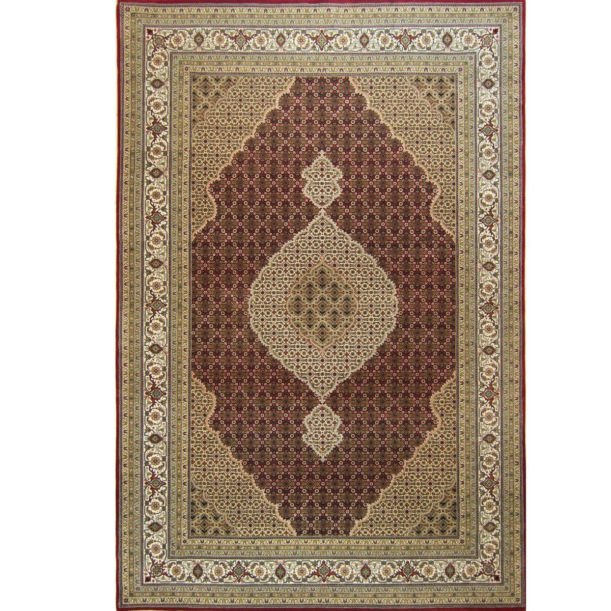 Super Fine Hand-knotted Wool and Silk Tabriz - Mahi Rug 203 cm x 300 cm Persian-Rug | House-of-Haghi | NewMarket | Auckland | NZ | Handmade Persian Rugs | Hand Knotted Persian Rugs