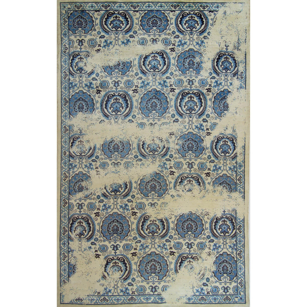 Fine Modern Hand-knotted Ushak Rug 178cm x 280cm - House Of Haghi