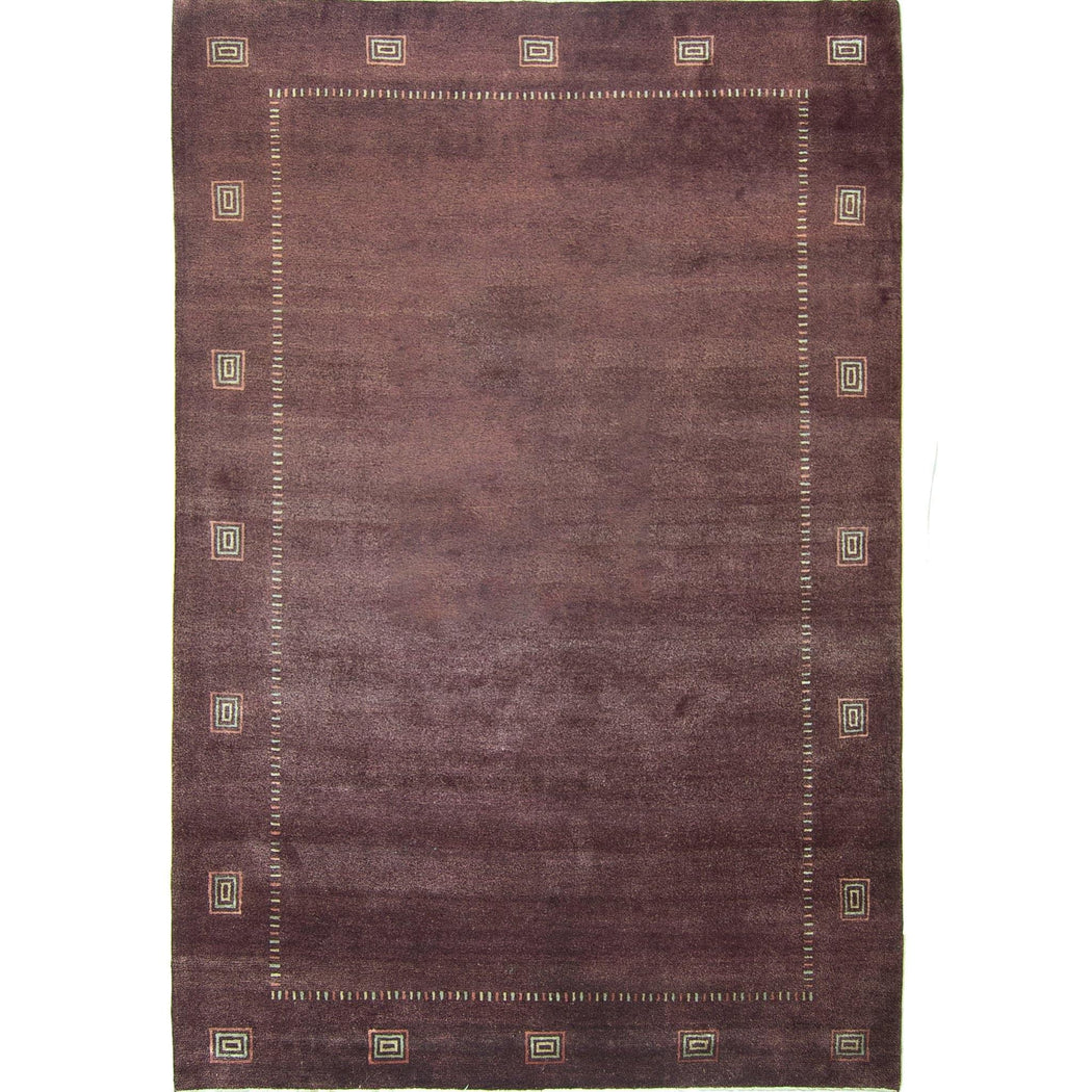Fine Hand-knotted Wool & Silk Loribaft - Gabbeh Rug 204cm x 305cm - House Of Haghi