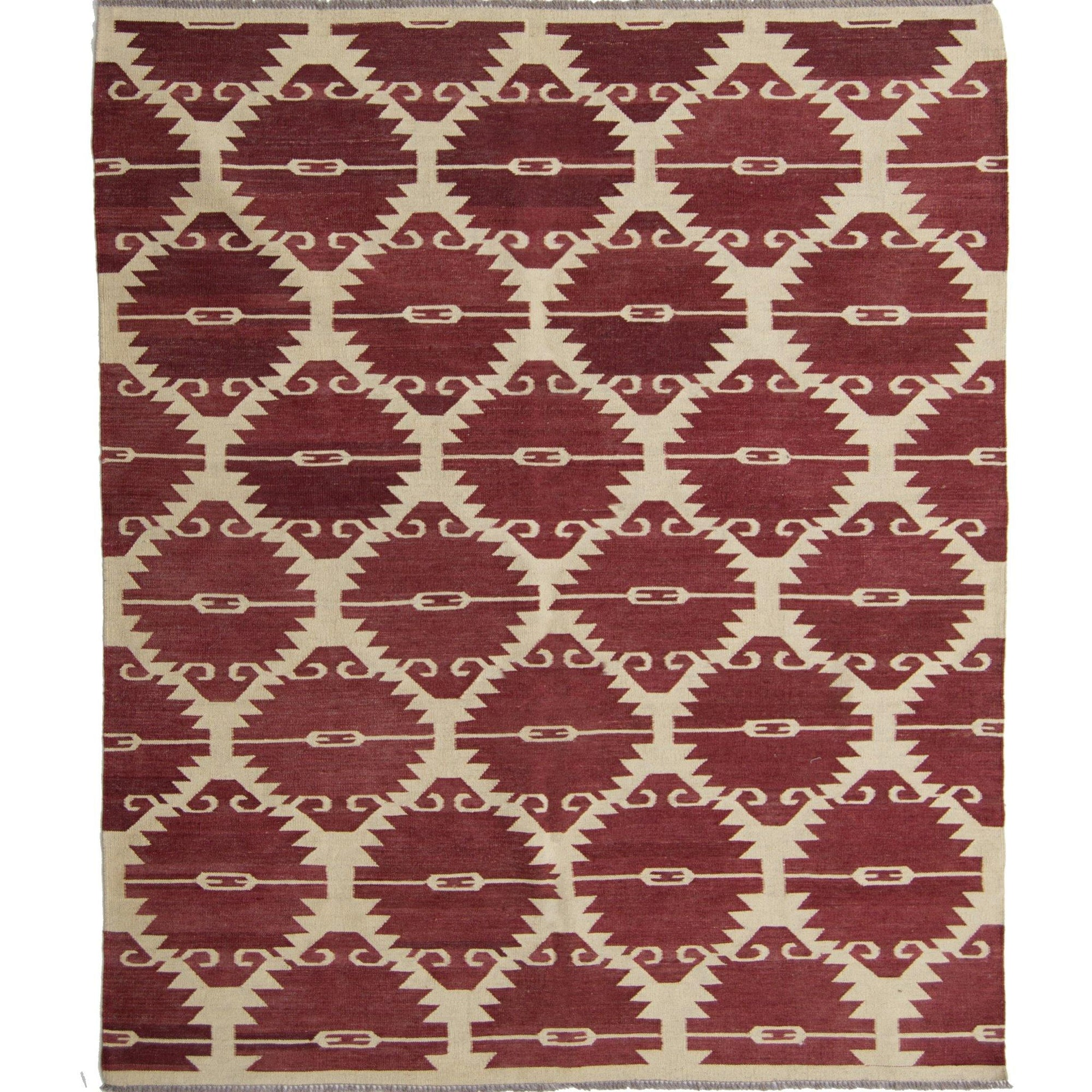 Modern Hand-woven 100% Wool Chobi Kilim Rug 191cm x 238cm Persian-Rug | House-of-Haghi | NewMarket | Auckland | NZ | Handmade Persian Rugs | Hand Knotted Persian Rugs