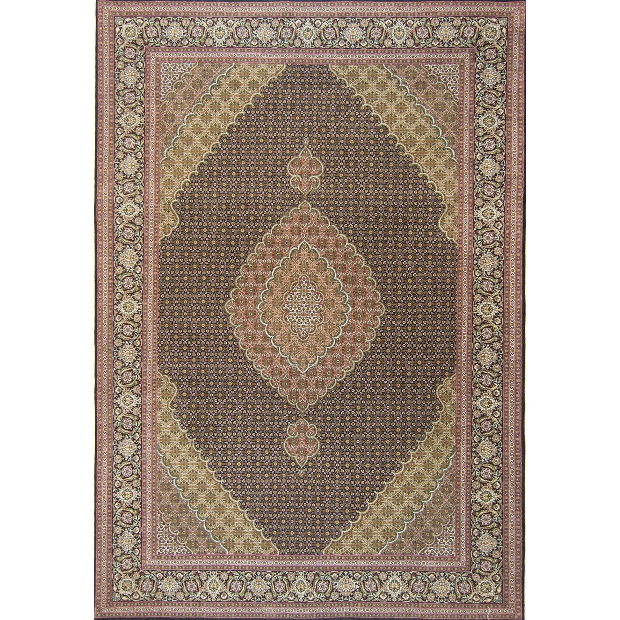 Super Fine Hand-knotted Persian Wool and Silk Tabriz - Mahi Rug 205 cm x 296 cm Persian-Rug | House-of-Haghi | NewMarket | Auckland | NZ | Handmade Persian Rugs | Hand Knotted Persian Rugs