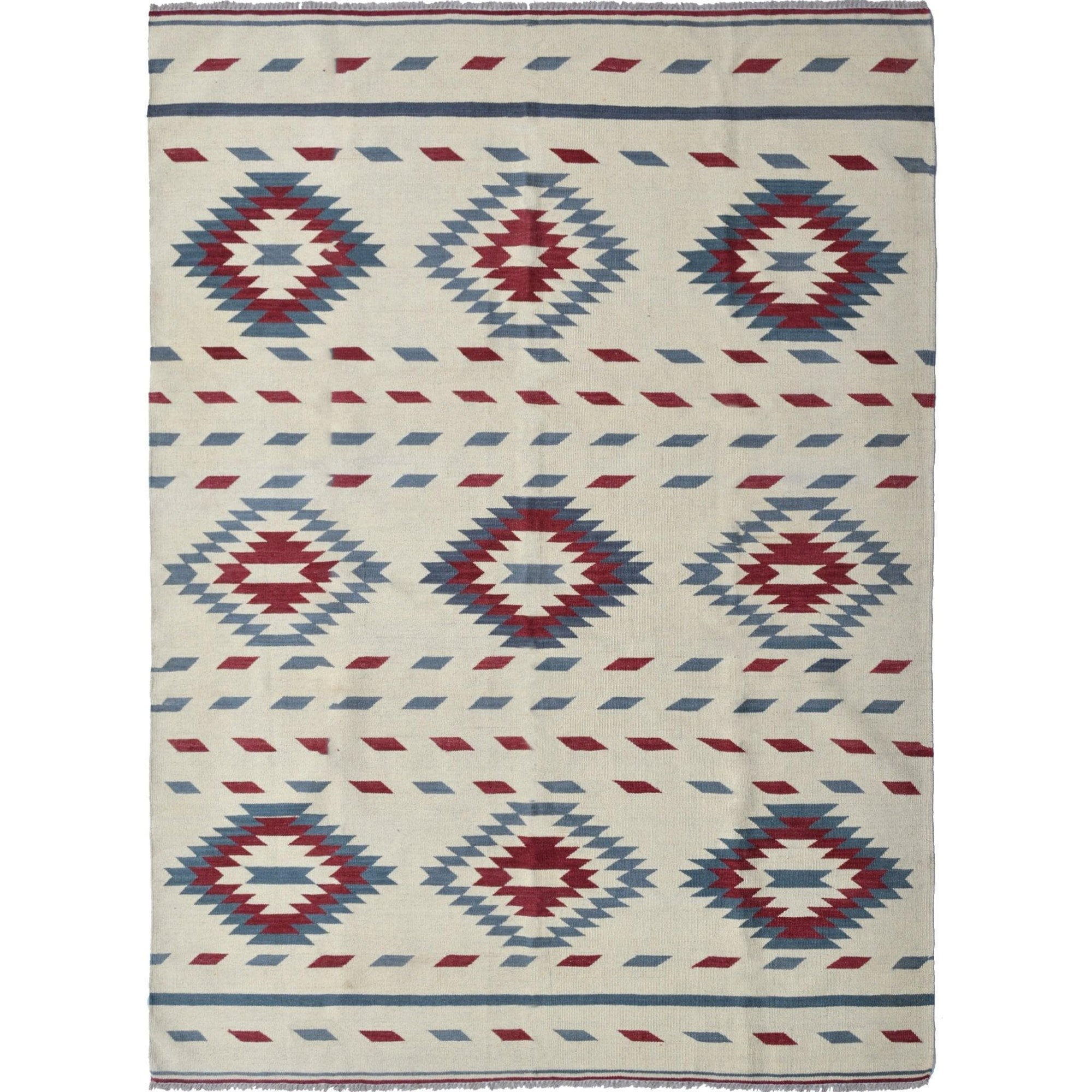 Modern Hand-woven 100% Wool Afghan Chobi Kilim Rug 1.81cm x 241cm Persian-Rug | House-of-Haghi | NewMarket | Auckland | NZ | Handmade Persian Rugs | Hand Knotted Persian Rugs