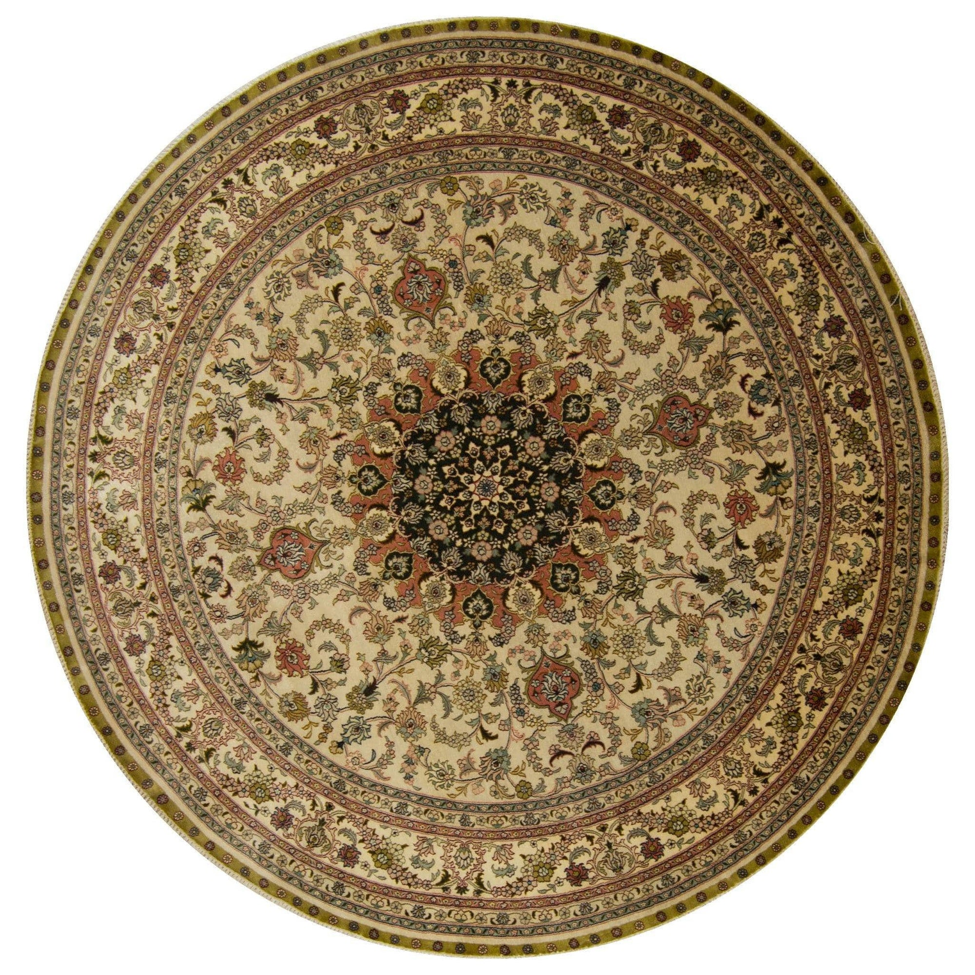 Fine 100% Silk Round Rug 183cm x 183cm Persian-Rug | House-of-Haghi | NewMarket | Auckland | NZ | Handmade Persian Rugs | Hand Knotted Persian Rugs