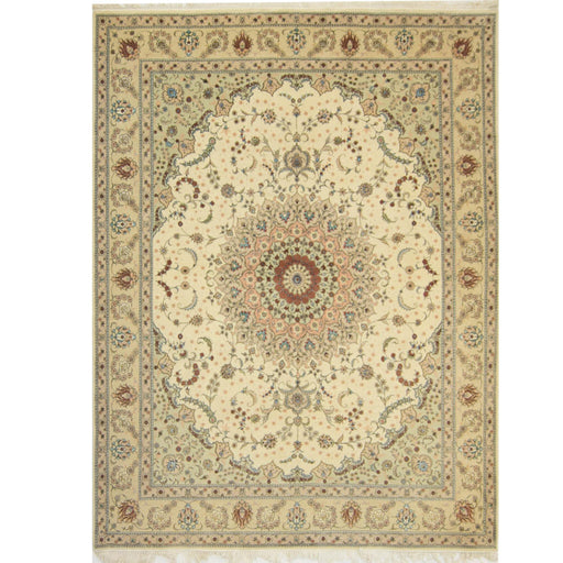 Fine Hand-knotted Wool & Silk Tabriz Rug 244cm x 305cm - House Of Haghi