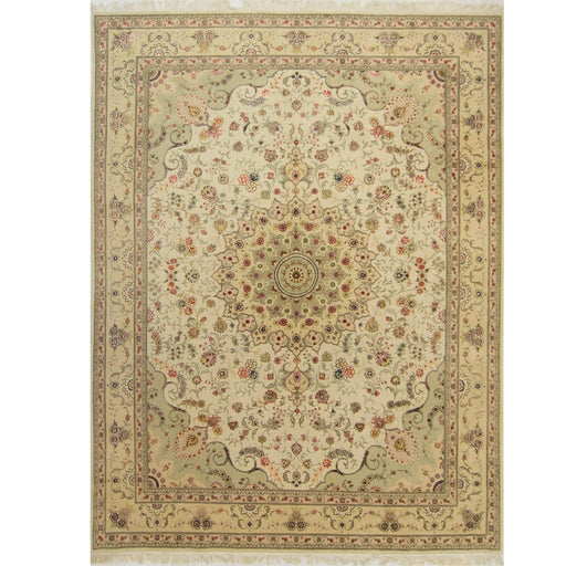Fine Hand-knotted Wool and Silk Tabriz Rug 274cm x 366cm - House Of Haghi