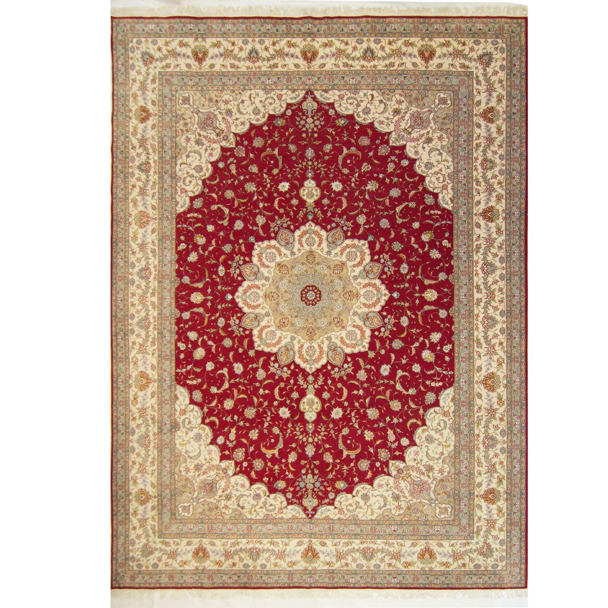 Fine Hand-knotted Wool and Silk Tabriz Rug 305cm x 427cm Persian-Rug | House-of-Haghi | NewMarket | Auckland | NZ | Handmade Persian Rugs | Hand Knotted Persian Rugs