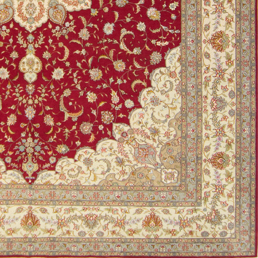 Fine Hand-knotted Wool and Silk Tabriz Rug 305cm x 427cm - House Of Haghi