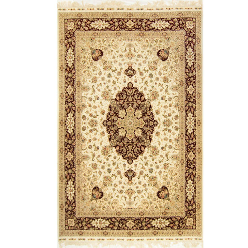 Fine Hand-knotted Wool and Silk Tabriz Rug 250cm x 350cm - House Of Haghi