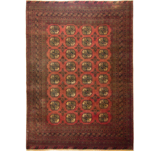 Fine hand-knotted 100% Wool Afghani Turkmen Rug  209cm x  288cm - House Of Haghi
