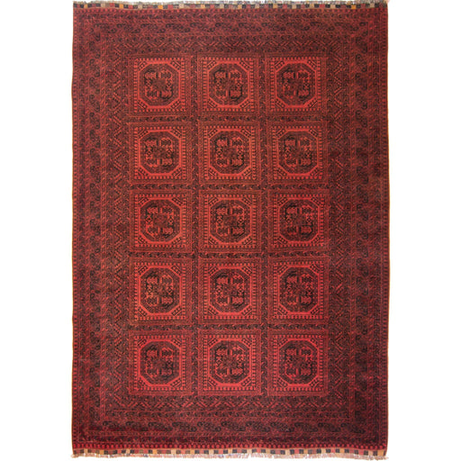 Fine Hand-knotted Wool Afghan Turkmen Rug 200cm x 278cm - House Of Haghi