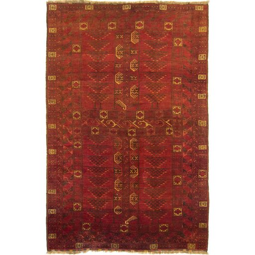 Fine Hand-knotted Afghan  Vintage 100% Wool Rug 169cm x 267cm - House Of Haghi