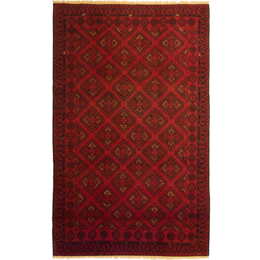 Fine Hand-knotted Wool Afghan Turkmen Rug 144cm x 241cm - House Of Haghi